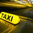Fast taxi — Stock Photo