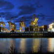 Container harbor during twilight — Stock Photo #2117097