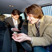 Tipping the Cabby — Stock Photo
