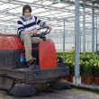 Cleaning a glasshouse — Stock Photo #2122083