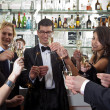 Toasting on a new Years Eve Party — Stock Photo #2138478