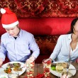 Restaurant Christmas — Stock Photo