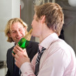 Drunks drinking champagne — Stock Photo #2139481