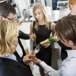 Refilling Champagne — Stock Photo