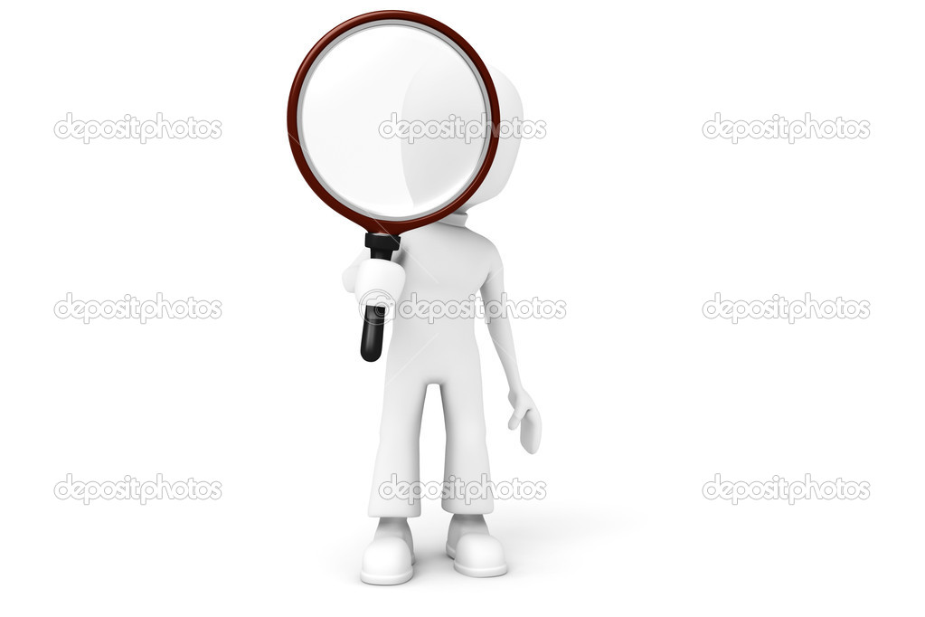 Global search. Isolated 3D image on white | Stock Photo | Colourbox