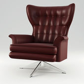 3d armchair studio render — Stock Photo