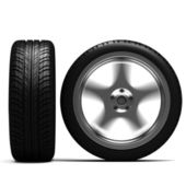 3d tires front and side view — Stock fotografie