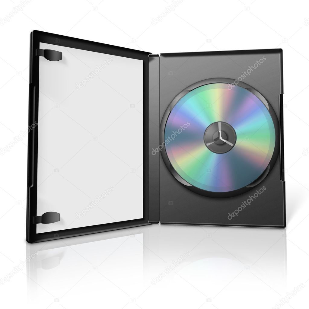 3d open dvd case — Stock Photo #2401662