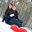 Couple in love smiling — Stock Photo #2326659