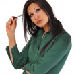 mujer de negocios toma notas — Foto de Stock