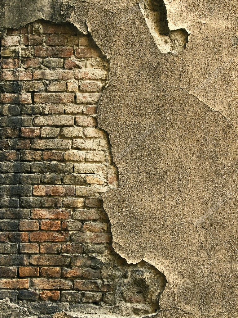 Abstract background of an obsolete, old grunge brick wall — Stock Photo #2095459