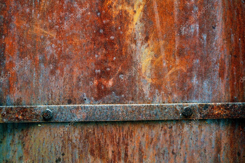 Grunge vintage rusty metal plate texture, backgound image — Stock Photo #2096097