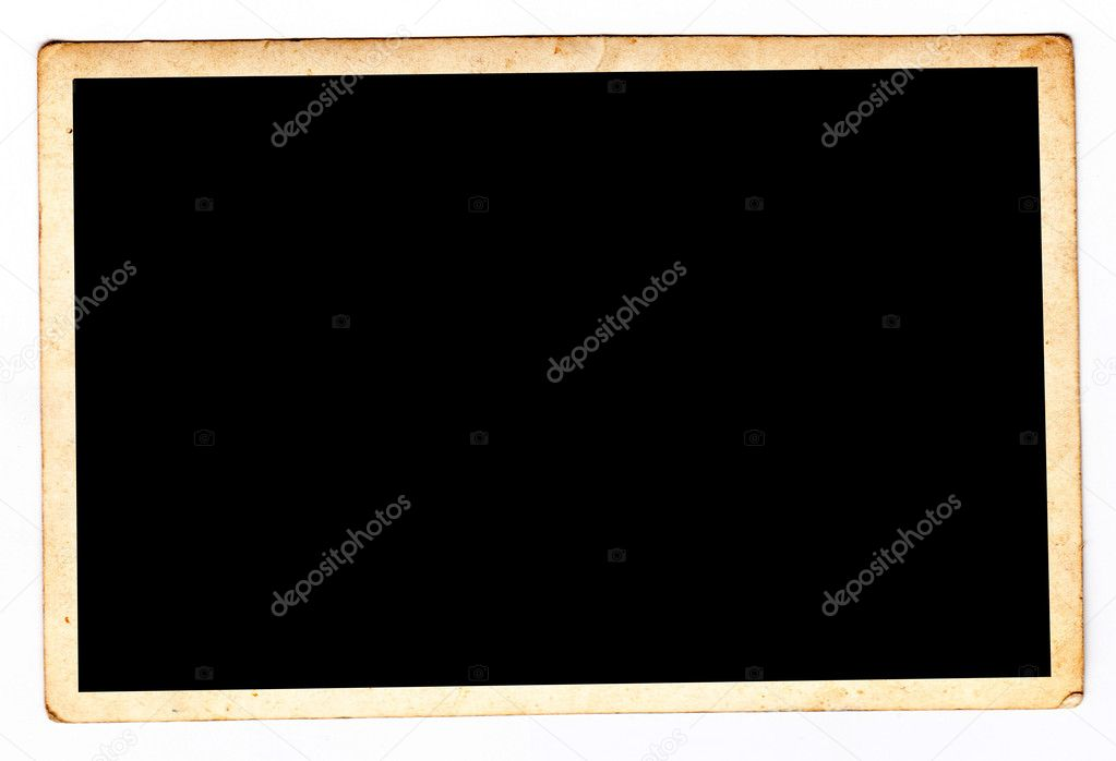 Abstract background, old photography frame isolated on black  Stock Photo #2671632