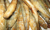 Fried fish smelt — Stock Photo