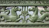 Decorative cast-iron fence. Background — Stock Photo