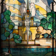 Stock Photo: Stained glass window