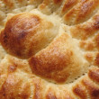 Surface of pita, rosy wheaten bread — Stock Photo #2214444