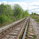 A running away railroad — Stock Photo