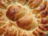 Surface of pita, rosy wheaten bread — Stock Photo