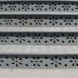 Cast iron steps with floral ornaments — Stockfoto