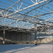 Stock Photo: Carcass hangar under construction