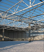 Carcass hangar under construction — Stock Photo