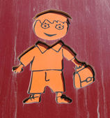 A schematic figure of a boy — Stock Photo