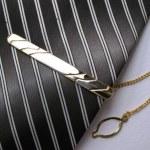 Elegant tie with clip — Stock Photo #2373817