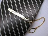 Elegant tie with clip — Stock Photo