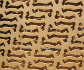 Background of plywood with holes cut out — Stock Photo