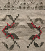 Background. embroidery pattern — Stock Photo