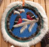 Souvenir of fur. Pyrrhula — Stock Photo
