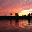 Sunset. The right bank of the Neva. St.P — Stock Photo