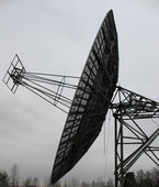 Radio telescope at Pulkovo observatory — Stock Photo