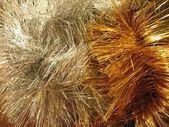 Christmas-tree tinsel — Stock Photo