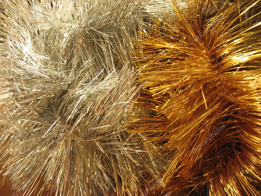 Christmas-tree tinsel  — Stock Photo #2462996