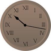 Rustic Clock — Stock Vector