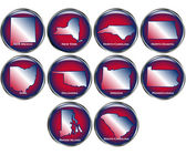 Set of State Buttons Set 4 — Stock Vector