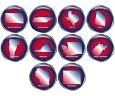 Set of State Buttons Set 5 — Stock Vector