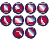 Set of State Buttons Set 1 — Stock Vector