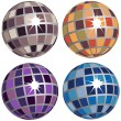 Set of Disco Balls - Stock Vector
