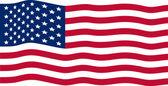 Ondeando la bandera americana — Vector de stock