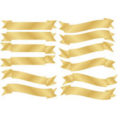 Set of Gold Banners — Stock Vector