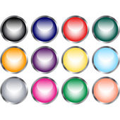 Set of Pastel Website Buttons — Stock Vector