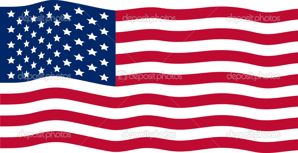 Waving American Flag | Stock Vector © Anita Potter #2440387