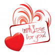 Love card - Stock Vector
