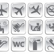 Airport symbol — Stockvectorbeeld