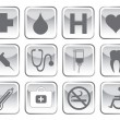 Stock Vector: Medical symbol set