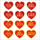 Heart sale — Stock Vector