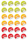 Stickers sale — Stock Vector